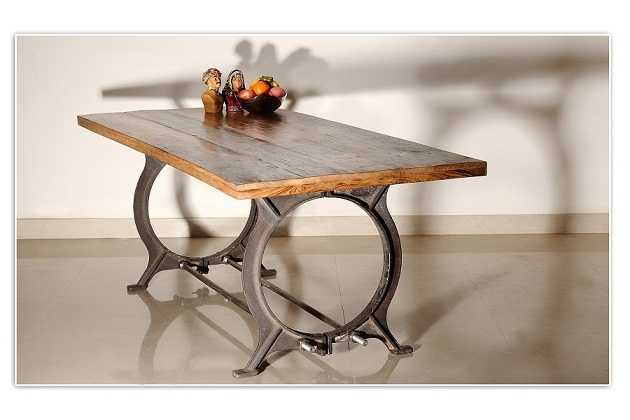 Wood Dining Table With Metal LegsAwesome Dining Wood Table 80